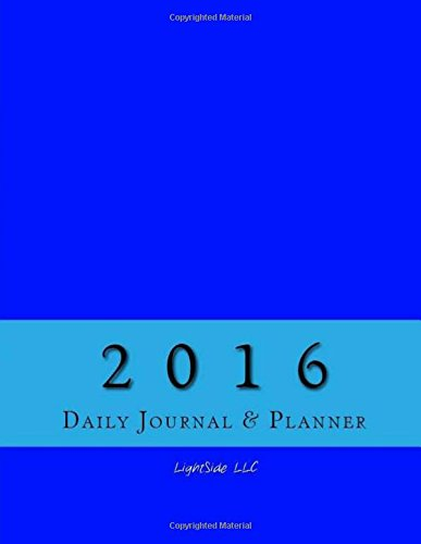 9781517563318: 2016 Daily Journal & Planner (Blue)