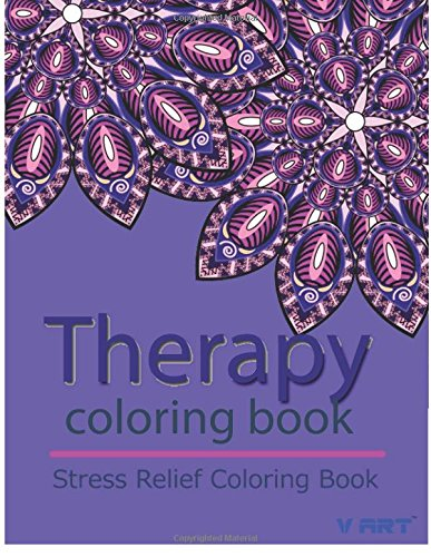 9781517604851: Therapy Coloring Book: Relaxation & Stress Relieving Patterns