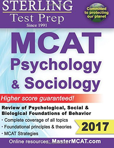 9781517611217: Sterling Test Prep MCAT Psychology & Sociology: Psychological, Social & Biological Foundations of Behavior - Review