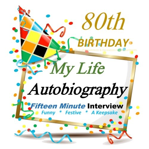80th Birthday Decorations: My 80th Birthday Autobiography, Party Favor for Guest of Honor, 80th ...
