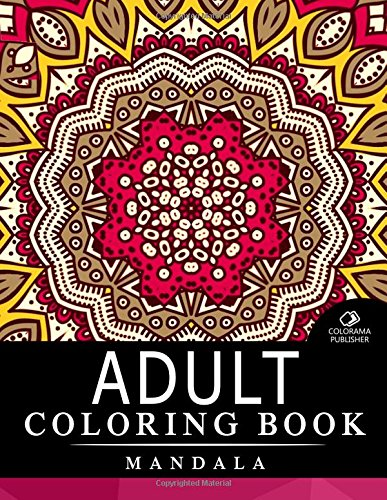 9781517710309: Adult Coloring Book Mandala: Stress Relieving Patterns : Coloring Books For Adults, coloring books for adults relaxation, Mandala Coloring Book
