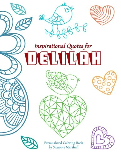 9781517720384: Inspirational Quotes for Delilah: Personalized Coloring Book with Inspirational Quotes for Kids (Personalized Books)