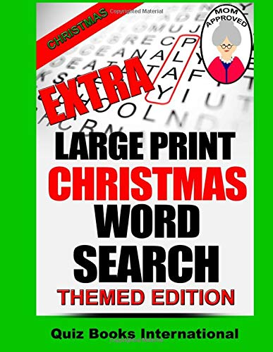 9781517739188: Extra Large Print Christmas Word Search
