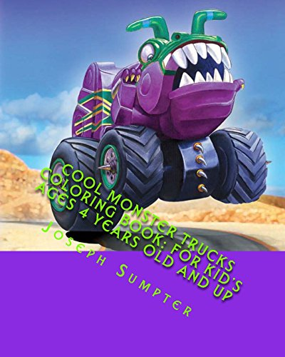 9781517792169: Cool Monster Trucks Coloring Book: For Kid's Ages 4 Years Old and up (Children Coloring Books)