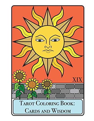 9781518608995: Tarot Coloring Book - Cards and Wisdom (Coloring Books for Adults)