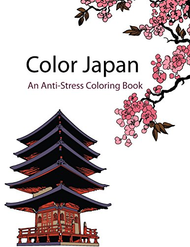 9781518646577: Color Japan (Color Therapy): An Anti-Stress Coloring Book