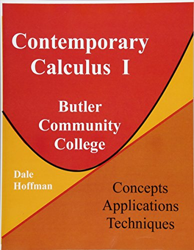 9781518660566: Contemporary Calculus I: Butler Community College