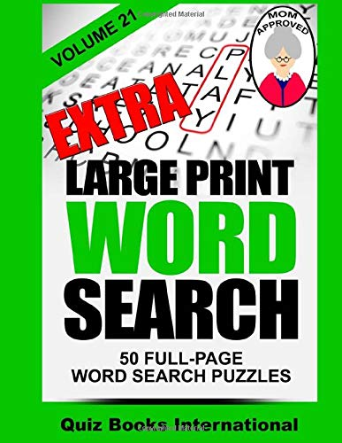 9781518723568: Extra Large Print Word Search Volume 21