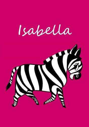 9781518746017: Malbuch/Notizbuch/Tagebuch - Isabella: DIN A4 - blanko - Zebra