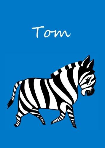 9781518747038: Malbuch / Notizbuch / Tagebuch - Tom: DIN A4 - blanko - Zebra