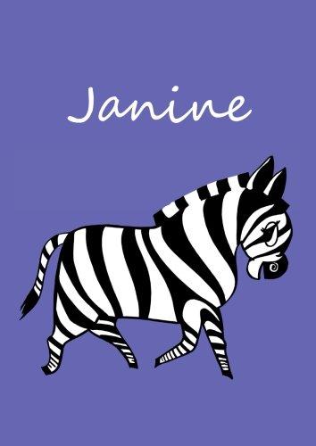 9781518773563: Malbuch / Notizbuch / Tagebuch - Janine: DIN A4 - blanko - Zebra