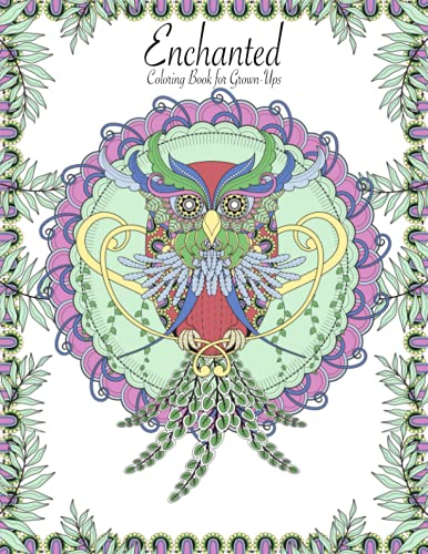 9781518776632: Enchanted Coloring Book for Grown-Ups 1