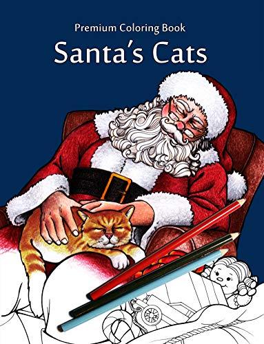 9781518788673: Santa's Cats: Christmas Adult Coloring Book