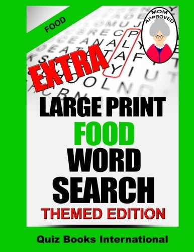Extra Large Print Food Word Search: Mike Edwards