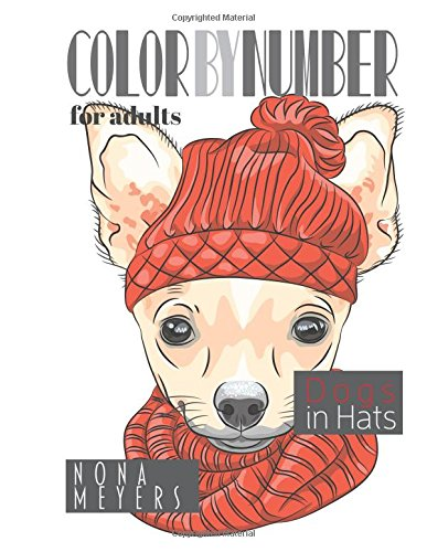 9781519165695: Color By Number For Adults: Dogs in Hats