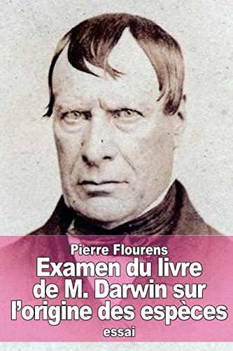 9781519290458: Examen du livre de M. Darwin sur l'origine des espèces (French Edition)