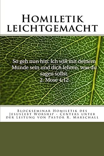 Homiletik Leichtgemacht: Blockseminar Homiletik Des Jesuslebt Worship-Centers: Anthony Grabowski