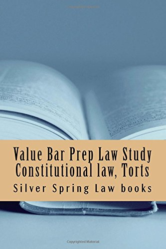 Value Bar Prep Law Study Constitutional Law,: Law Books, Silver
