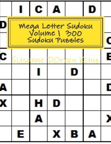 9781519390714: Mega Letter Sudoku Volume 1 300 Sudoku Puzzles