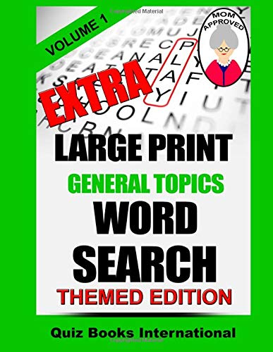 9781519401571: Extra Large Print Word Search - General Topics Vol. 1