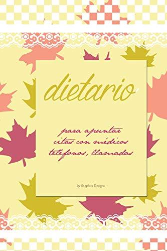 9781519451699: Dietario medicos, telefonos, anotaciones b-n: Dietarios con interior en blanco y negro