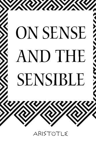 9781519510440: On Sense and the Sensible