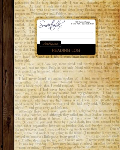 "9781519531797: Reading Log: Gifts for Book Lovers / Reading Journal [ Softback * Large (8"" x 10"") * Antique Paper * 100 Spacious Record Pages & More... ] (Reading Logs & Journals)"