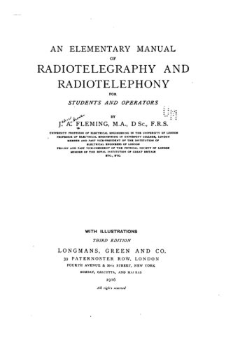 9781519567772: An Elementary Manual of Radiotelegraphy and Radiotelephony