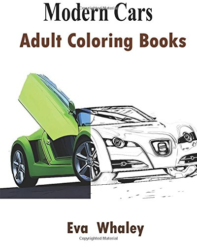9781519584854: Modern Cars : Adult Coloring Book: Design Coloring Book