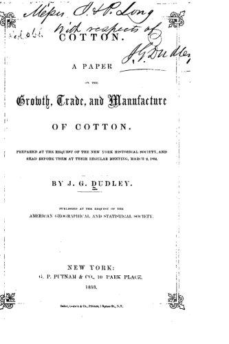 9781519616678: Cotton