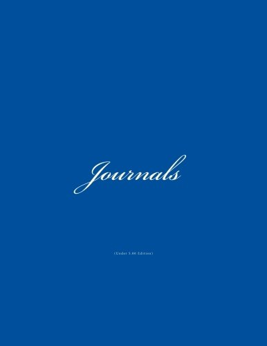 9781519660589: Journals Under 5.00: Classic (Lined Pages) Royal Blue Cover Journal Option - ON SALE NOW - JUST $4.99 (Volume 3)