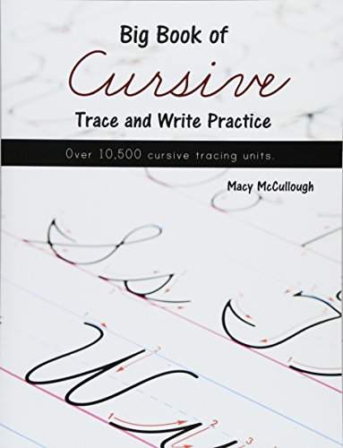9781519671875: Big Book of Cursive Trace and Write Practice