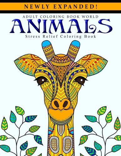 9781519684127: Adult Coloring Books: Animals - Stress Relief Coloring Book