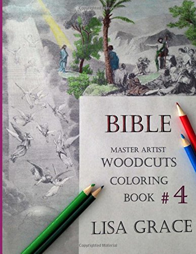 9781519697806: Bible Master Artist Woodcuts Coloring Book For Adults #4 (Volume 4)