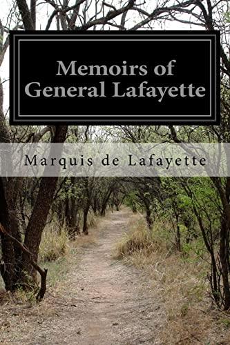 9781519743329: Memoirs of General Lafayette