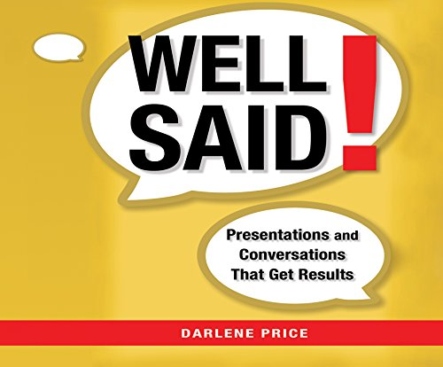 Well Said!: Presentations and Conversations That Get Results (Compact Disc): Darlene Price