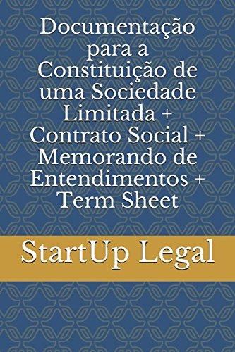 Documentação para a Constituição de uma Sociedade: StartUp Legal