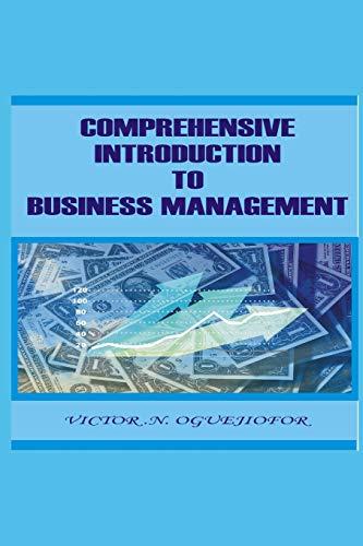 Comprehensive introduction to business management: Victor. N oguejiofor