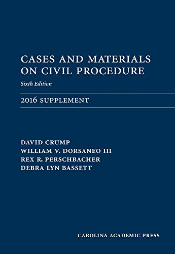 9781522104889: Cases and Materials on Civil Procedure: 2016 Document Supplement