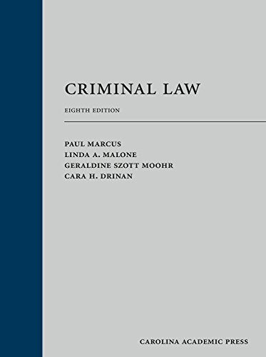 Criminal Law: Marcus, Paul; Malone,