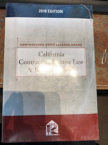 9781522149705: California Contractors License Law & Reference Book