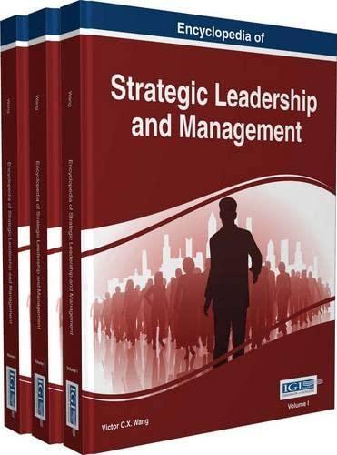 9781522510499: Encyclopedia of Strategic Leadership and Management