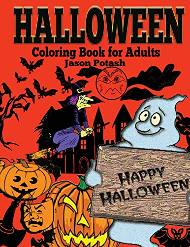 9781522752387: Halloween Coloring Book For Adults (The Stress Relieving Adult Coloring Pages)