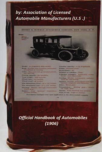 9781522758198: Official Handbook of Automobiles (1906)