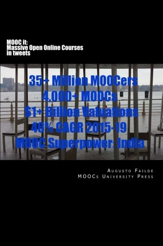 9781522762010: MOOC it: Massive Open Online Courses in tweets: 35+ Million MOOCers, 4,000+ MOOCs, $1+ Billion Valuations, 46% CAGR 2015-2019, MOOC Superpower: India (Volume 2)