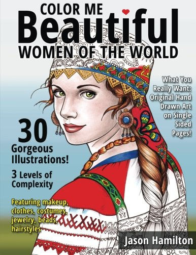 9781522786948: Color Me Beautiful, Women of the World: Adult Coloring Book