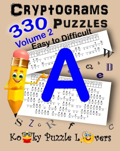9781522792918: Cryptograms, Volume 2: 330 Puzzles