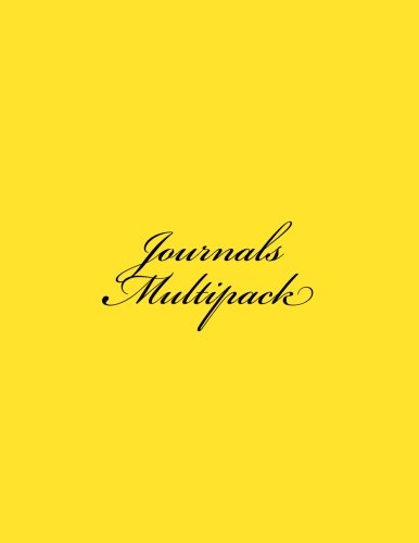 9781522798651: Journals Multipack: Classic Multipack (Yellow Cover) Journal Option - ON SALE NOW - JUST $9.95 (Multipack Journals) (Volume 6)
