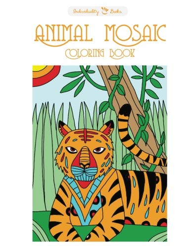 animal mosaic coloring book individuality books - Mosaic Coloring Book