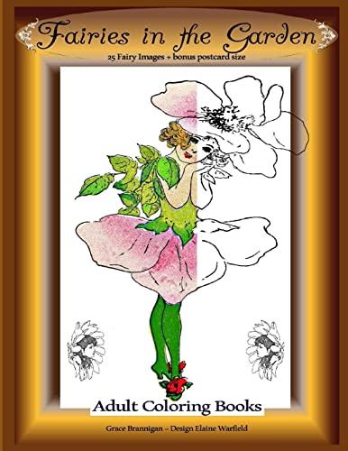 9781522831303: Fairies in the Garden: 25 Fairy Images Plus Bonus Postcard Size: Adult Coloring Books (Volume 8)